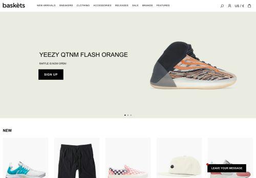 Screenshot van baskets-store.com