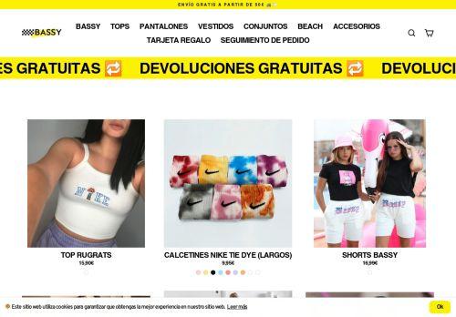 Screenshot van bassyshop.com
