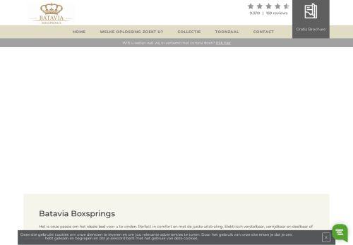 Screenshot van bataviaboxsprings.nl