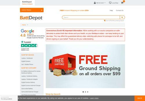 Screenshot van battdepot.com