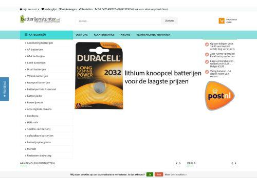 Screenshot van batterijenstunter.nl