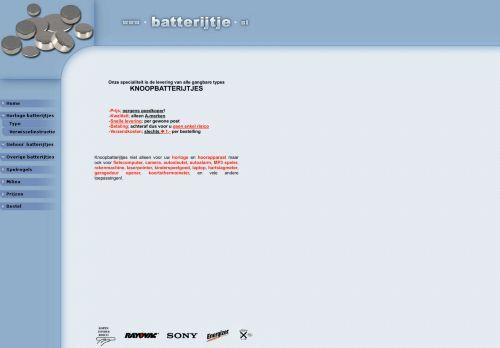 Screenshot van batterijtje.nl