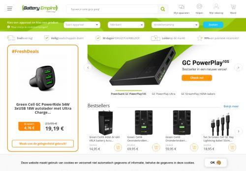 Screenshot van batteryempire.nl
