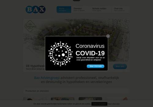 Screenshot van baxadviesgroep.nl