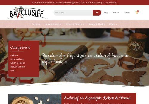 Screenshot van baxclusief.com