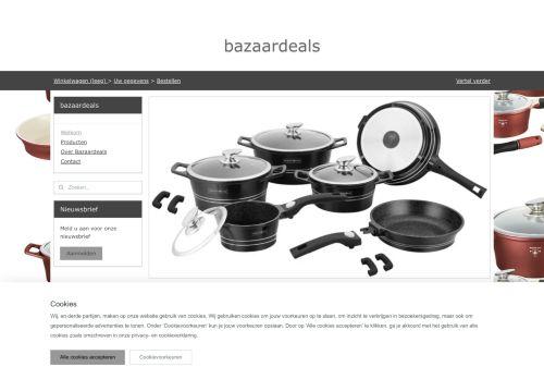 Screenshot van bazaardeals.nl
