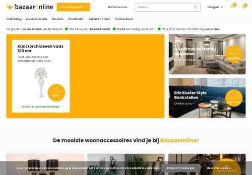 Screenshot van bazaaronline.nl