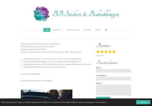 Screenshot van bbstickers.nl