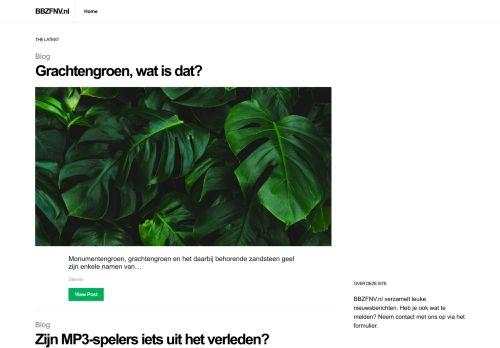 Screenshot van bbzfnv.nl