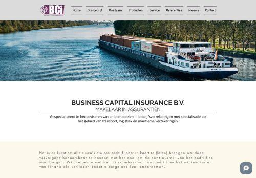 Screenshot van bcinsurance.nl