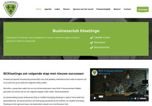 Screenshot van bckloetinge.nl