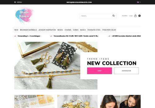 Screenshot van beadsandbasics.com