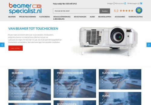 Screenshot van beamerspecialist.nl