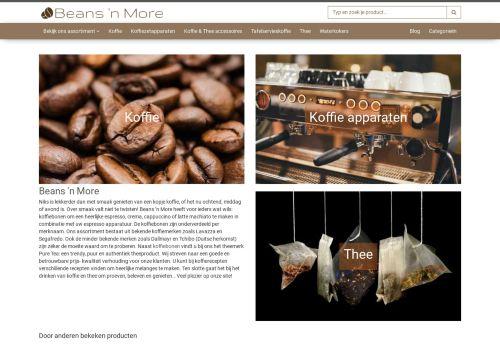 Screenshot van beansnmore.nl