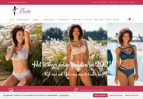 Screenshot van beata-lingerie.nl