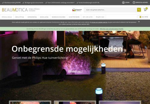 Screenshot van beaumotica.nl