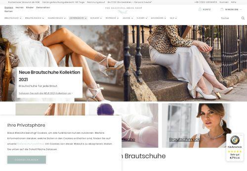 Screenshot van beautifulbrideshop.de