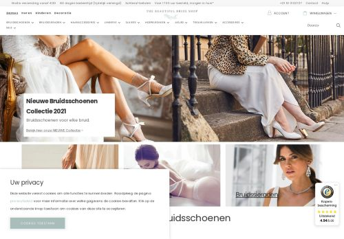 Screenshot van beautifulbrideshop.nl