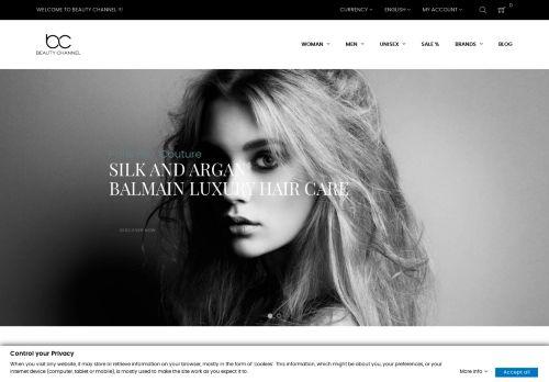 Screenshot van beauty-channel.nl