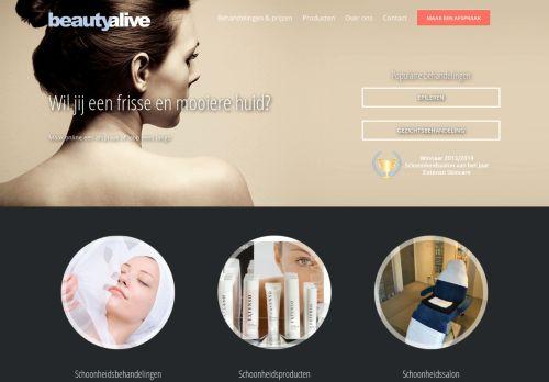 Screenshot van beautyalive.nl