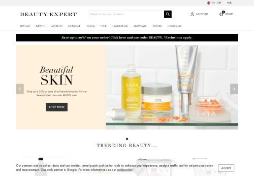 Screenshot van beautyexpert.com