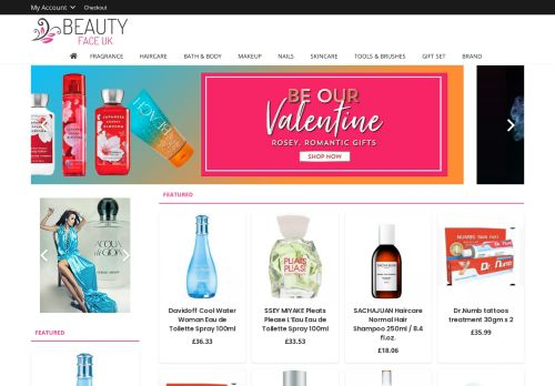 Screenshot van beautyfaceuk.com