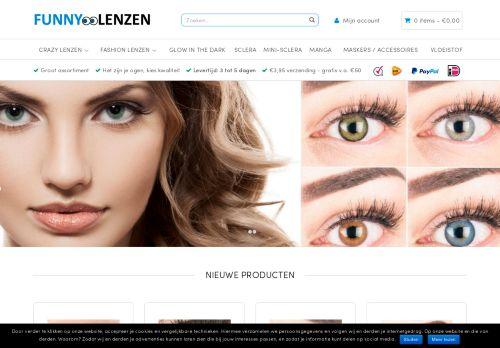 Screenshot van beautylenzen.nl