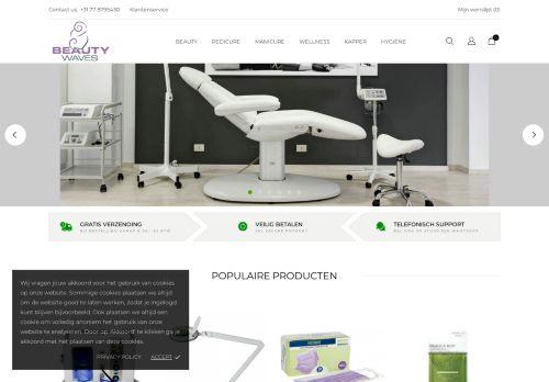 Screenshot van beautywaves.nl