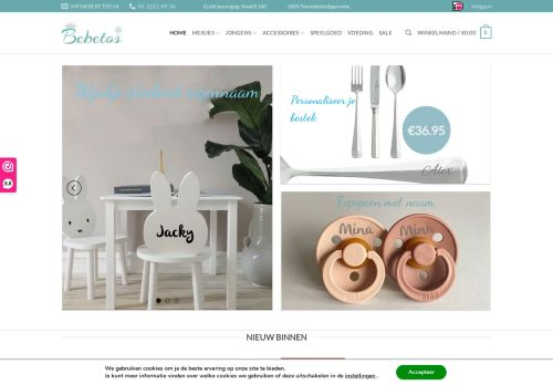 Screenshot van bebetos.nl