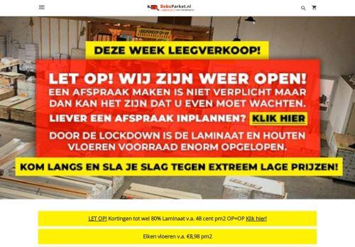 Screenshot van beboparket.nl