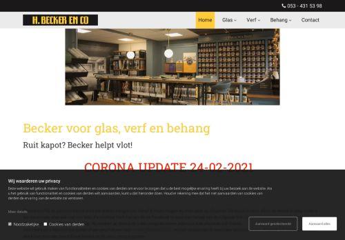 Screenshot van beckerglas.nl