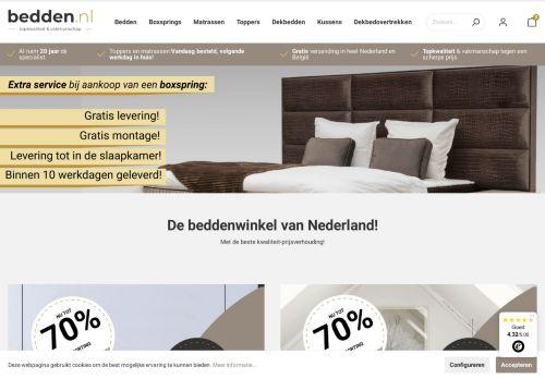 Screenshot van bedden.nl