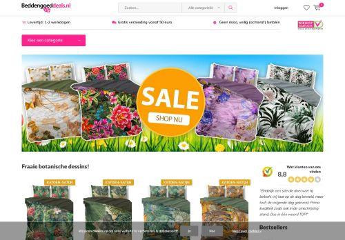 Screenshot van beddengoeddeals.nl