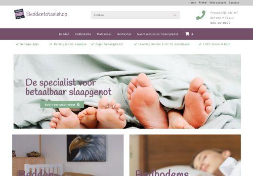 Screenshot van beddentotaalshop.nl