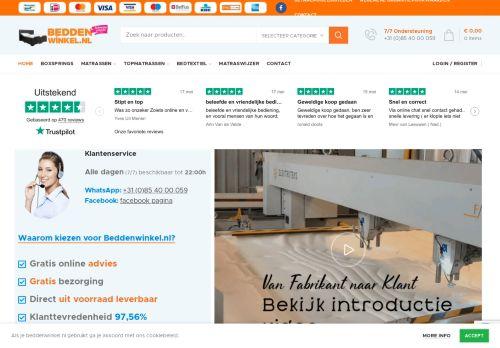 Screenshot van beddenwinkel.nl