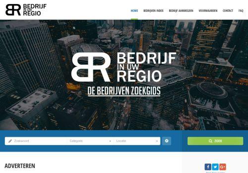 Screenshot van bedrijfinuwregio.nl
