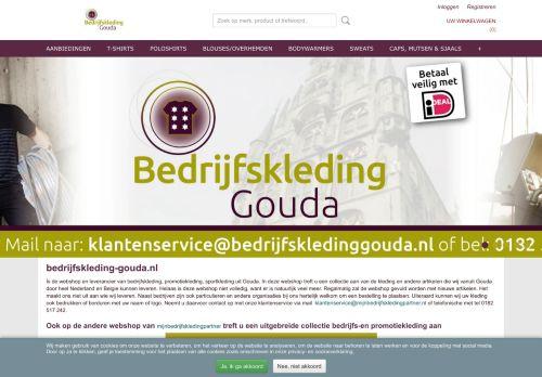 Screenshot van bedrijfskleding-gouda.nl