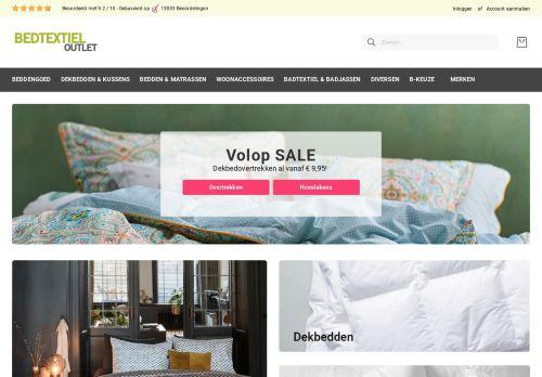 Screenshot van bedtextiel-outlet.nl