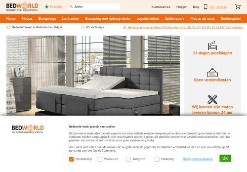 Screenshot van bedworld.nl