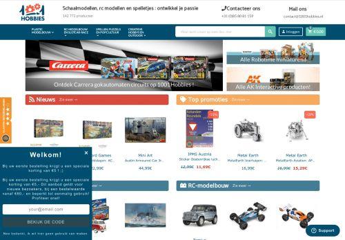 Screenshot van 1001hobbies.nl