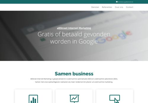 Screenshot van 48street.nl
