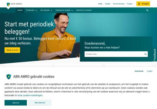 Screenshot van abnamro.nl