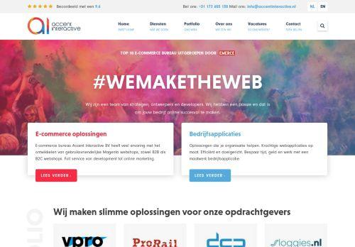 Screenshot van accentinteractive.nl