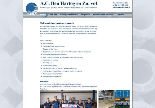 Screenshot van www.acdenhartog.nl