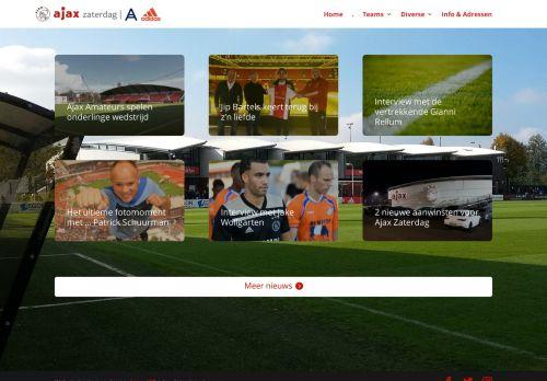 Screenshot van ajaxzaterdag.nl
