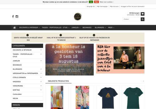 Screenshot van www.alabonheur.be