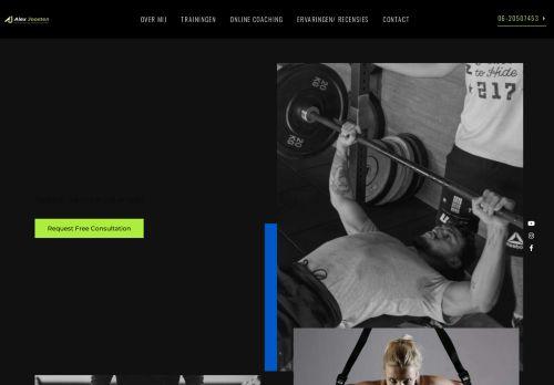Screenshot van alexjoostenpersonaltraining.nl