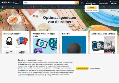 Screenshot van amazon.nl