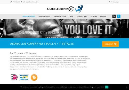Screenshot van anabolenkopen24.nl