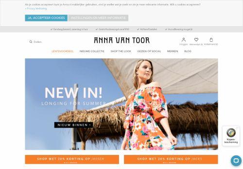 Screenshot van annavantoor.nl